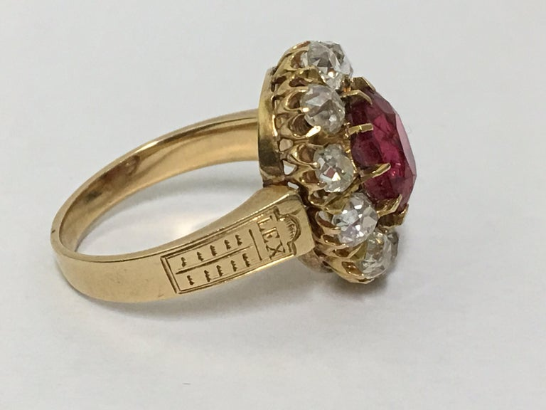 Spinal and Diamonds Antique Ring 4