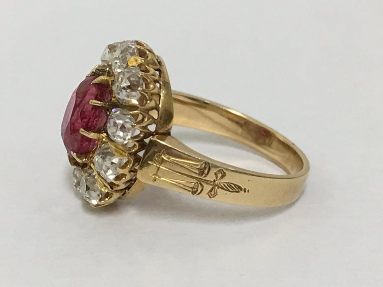 Spinal and Diamonds Antique Ring 6