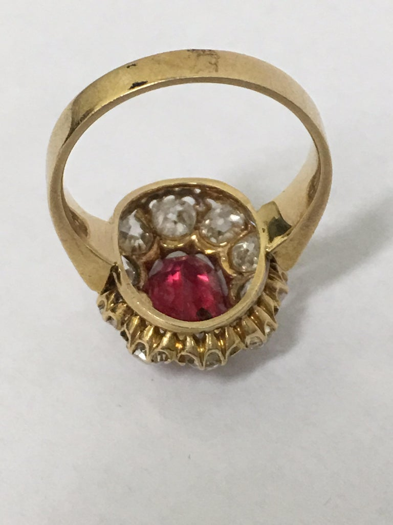 Women's or Men's Spinal and Diamonds Antique Ring