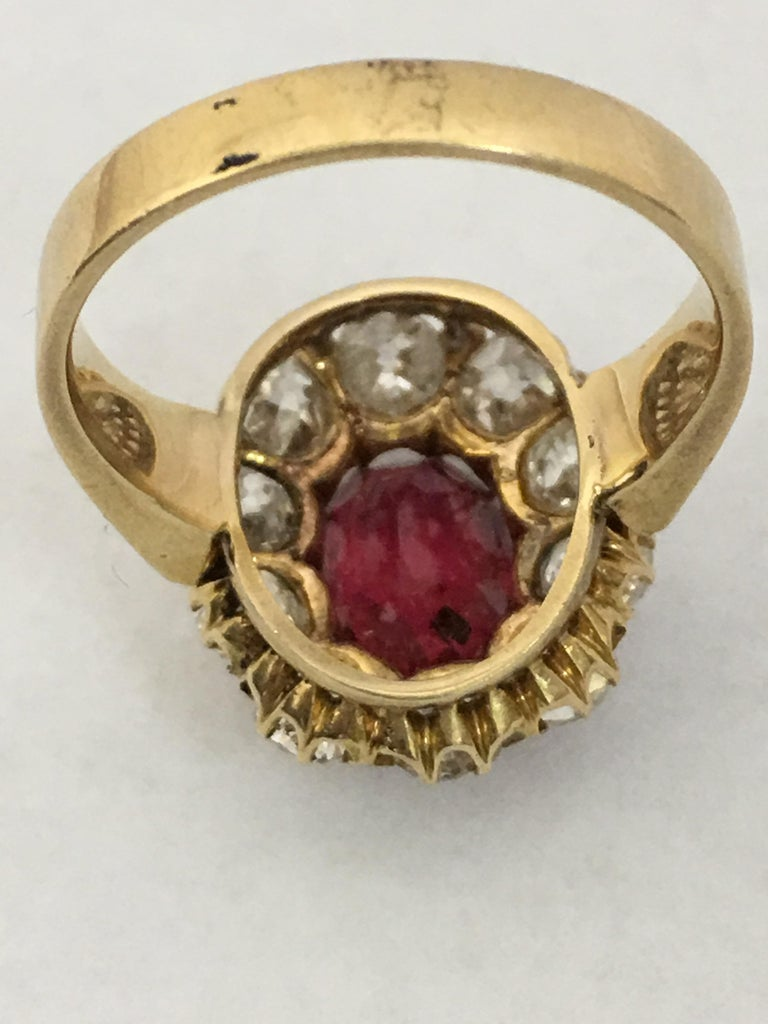 Spinal and Diamonds Antique Ring 2