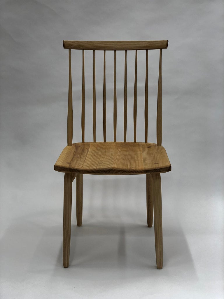 Spindle Back Dining Chair in White Ash by Brian Holcombe For Sale 2