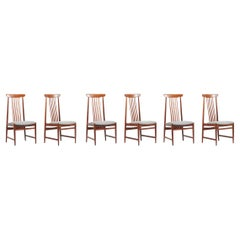 Spindle Back Dining Chairs, Denmark, 1960s