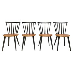 Spindle Back Dining Chairs in the Style of Ilmari Tapiovaara, 1960s