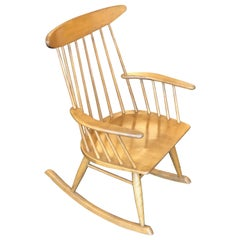 Spindle Back Rocking Chair by Russel Wright for Conant Ball