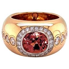 Spinel and Diamond Ring in 18 Karat Rose Gold