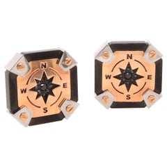 Spinel Compass Style Cufflinks