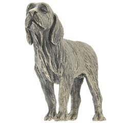 Spinone Dog Sculpture in Silver