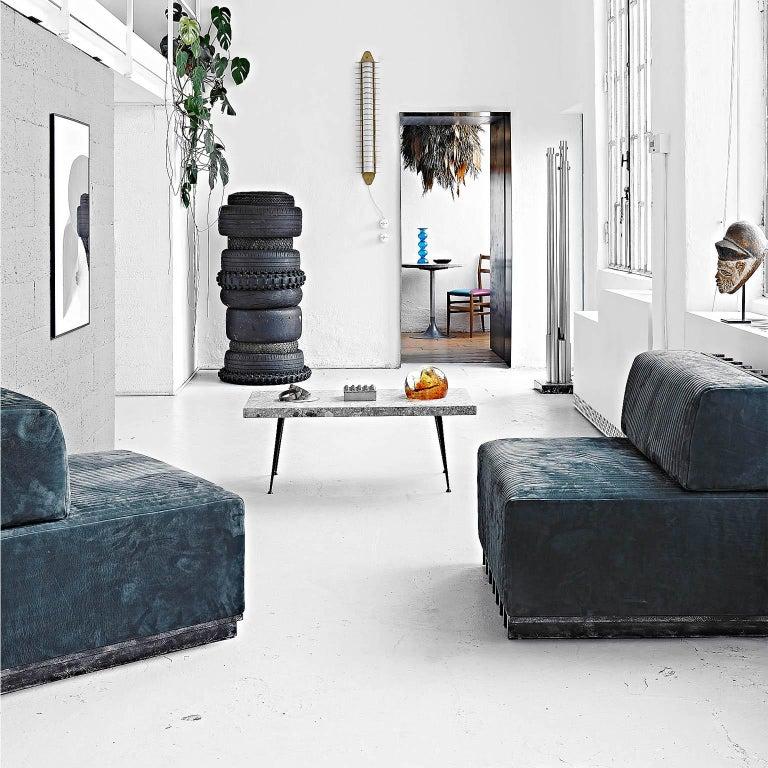Spinzi Design Modular Sofa Leather Seat Armchair Lame' For Sale 11
