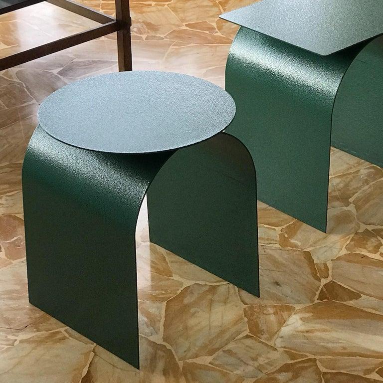 Contemporary Spinzi Palladium Green ''Martellato