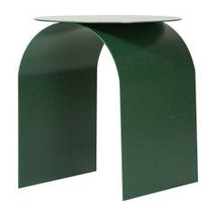 "Spinzi Palladium Green ''Martellato"" Side Table Round Top"
