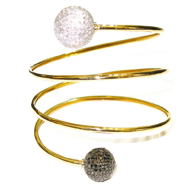 Modern Spiral Ball Bracelet For Sale