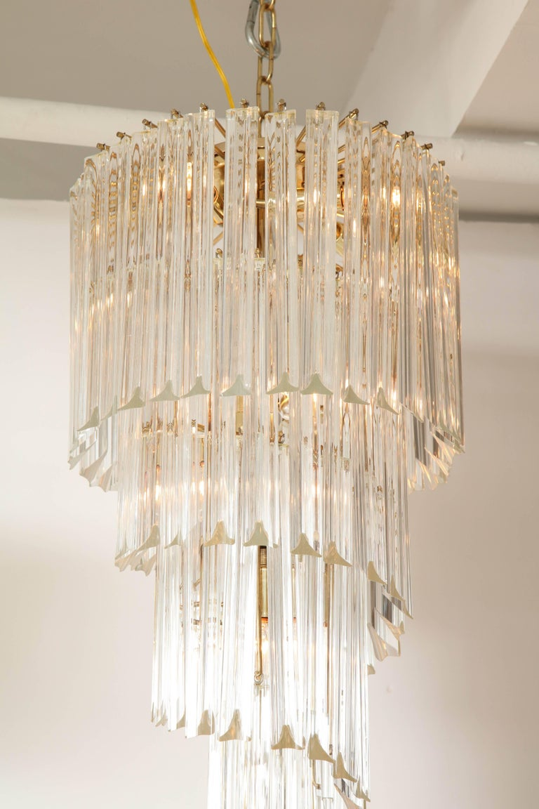 Italian Spiral Chandelier by Camer For Sale