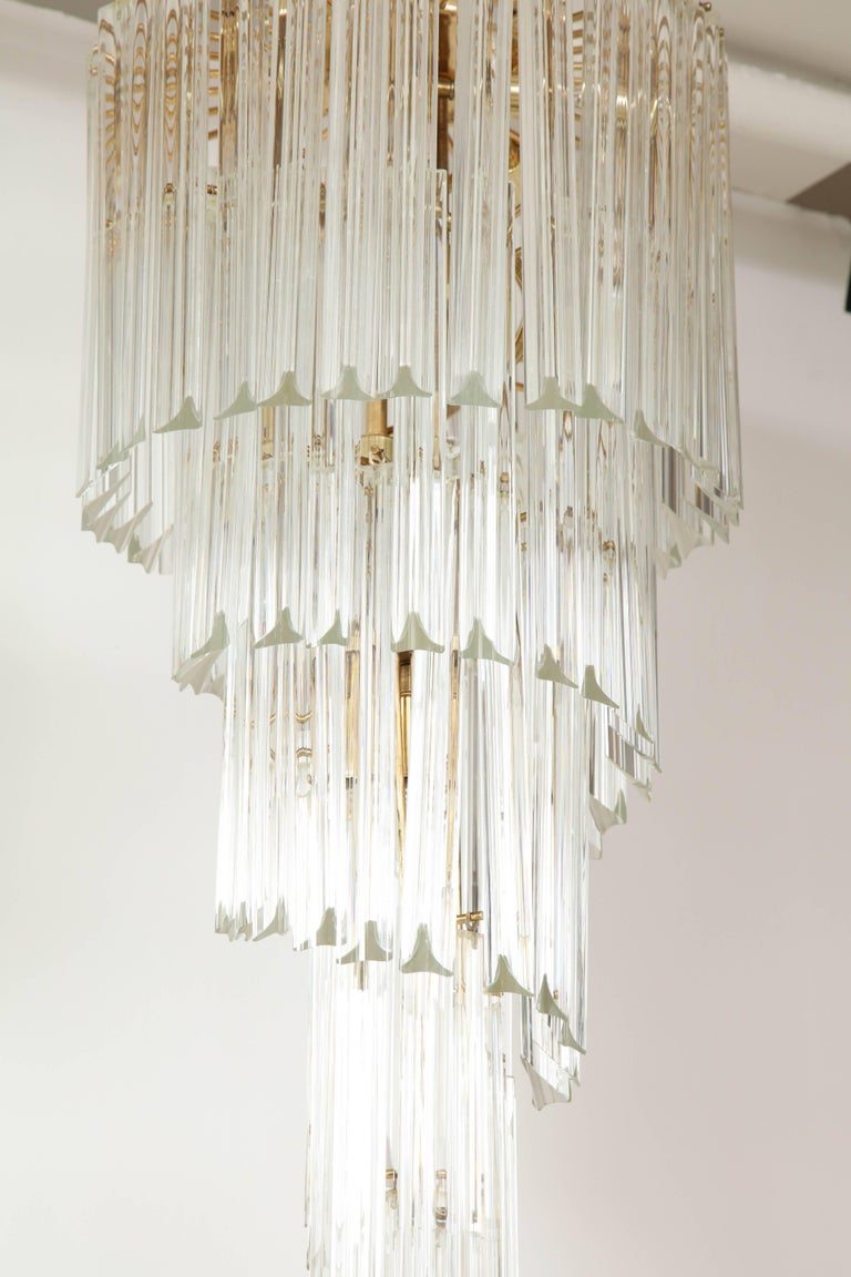 Spiral Chandelier by Camer In Excellent Condition For Sale In New York, NY