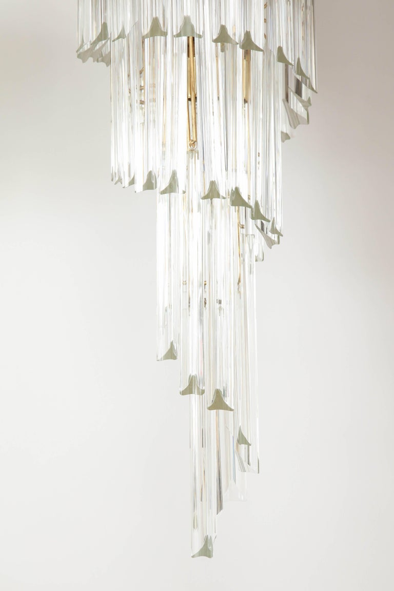 Spiral Chandelier by Camer For Sale 1