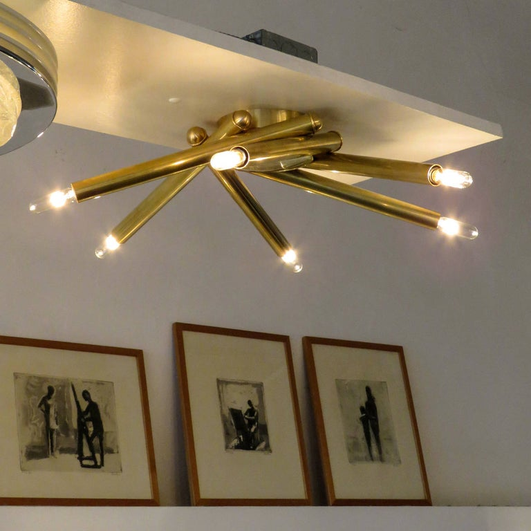 Brass Spiral FL-6 Flush Mount by Gallery L7 For Sale
