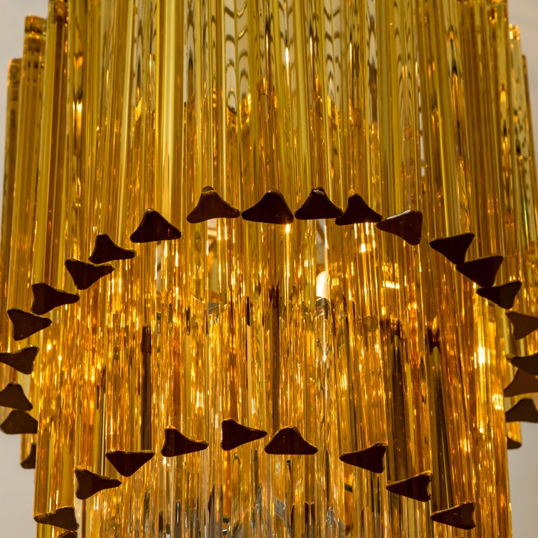 Spiral Murano Glass Chandelier by Venini For Sale 4