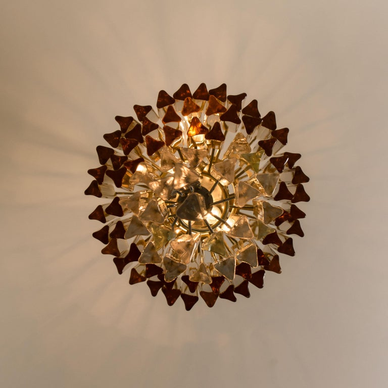 Spiral Murano Glass Chandelier by Venini For Sale 5