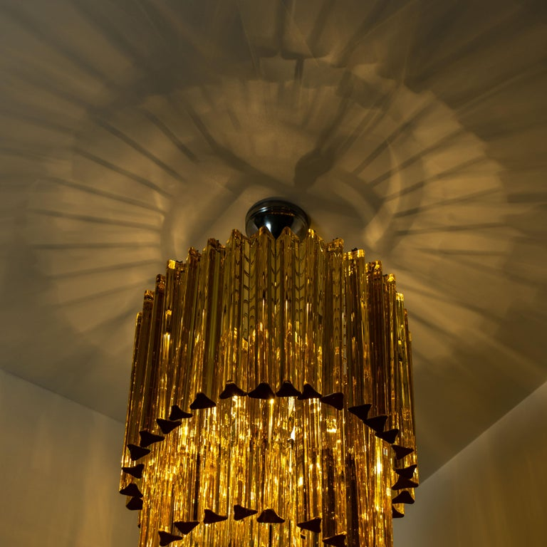 Spiral Murano Glass Chandelier by Venini For Sale 9