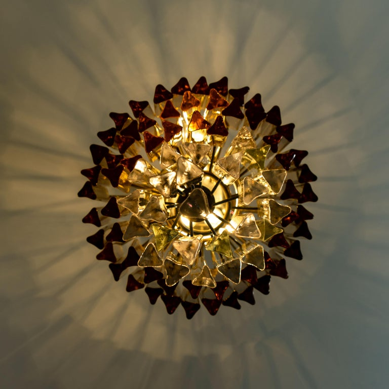 Spiral Murano Glass Chandelier by Venini For Sale 11