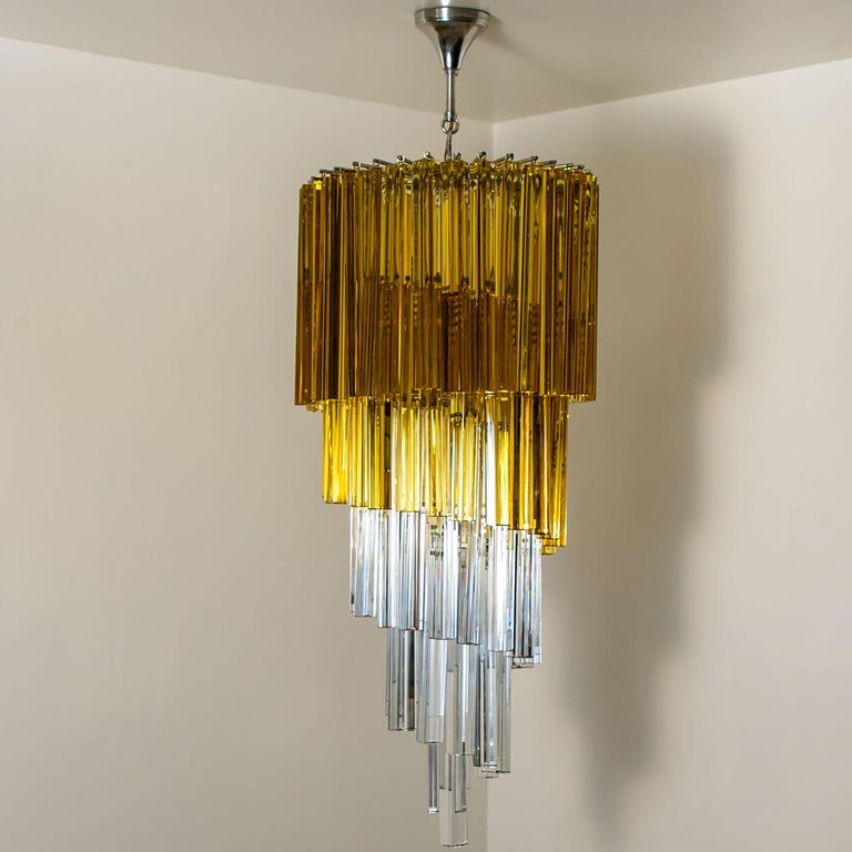 Spiral Murano Glass Chandelier by Venini For Sale 12