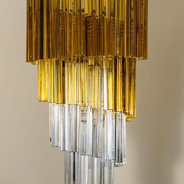 Mid-Century Modern Spiral Murano Glass Chandelier by Venini For Sale
