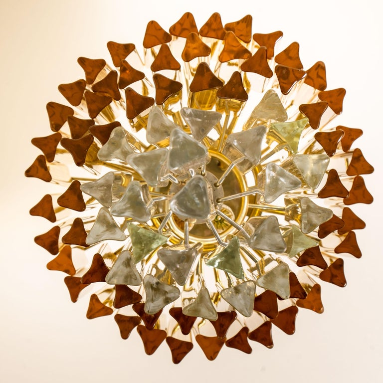 Spiral Murano Glass Chandelier by Venini For Sale 1
