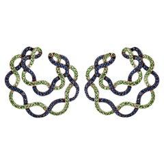 Spiral Sapphire Earrings