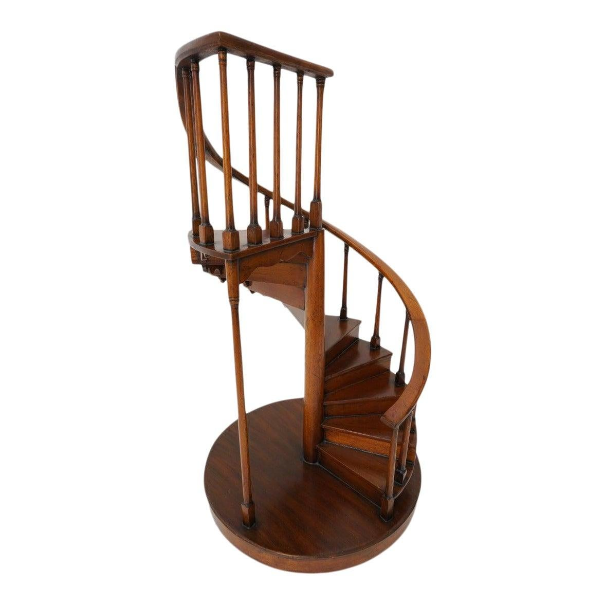 Spiral Staircase Architectural Model in Mahogany