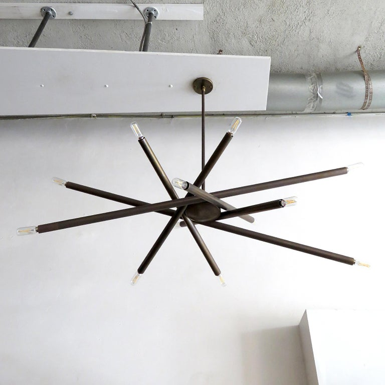 Organic Modern Spiral VL-6 Chandelier by Gallery L7 For Sale