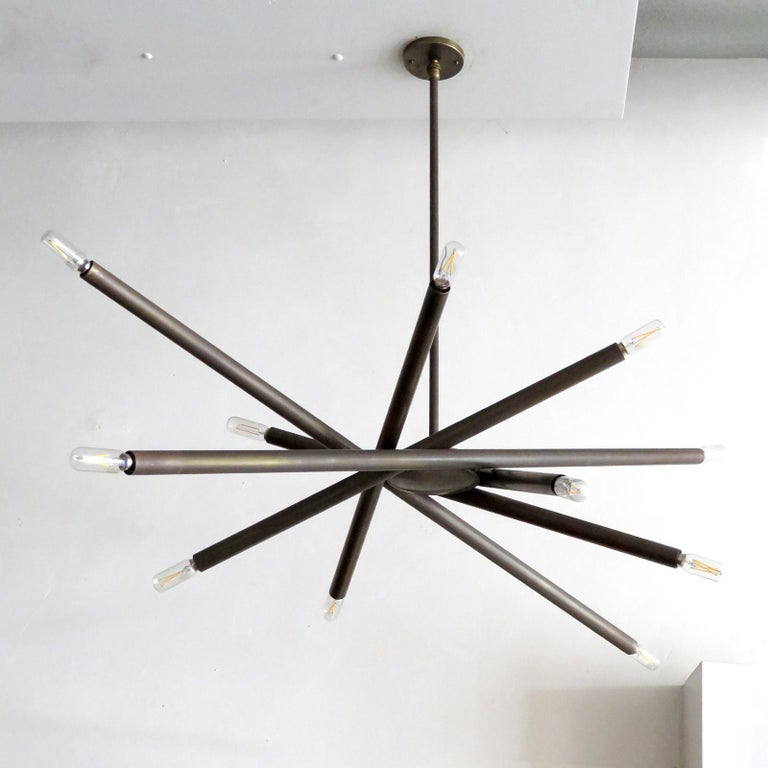 American Spiral VL-6 Chandelier by Gallery L7 For Sale