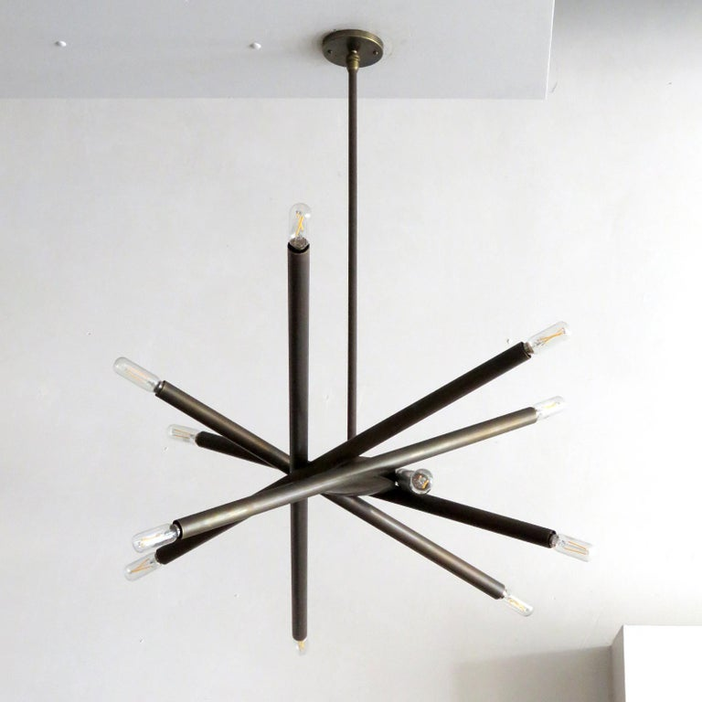 Patinated Spiral VL-6 Chandelier by Gallery L7 For Sale