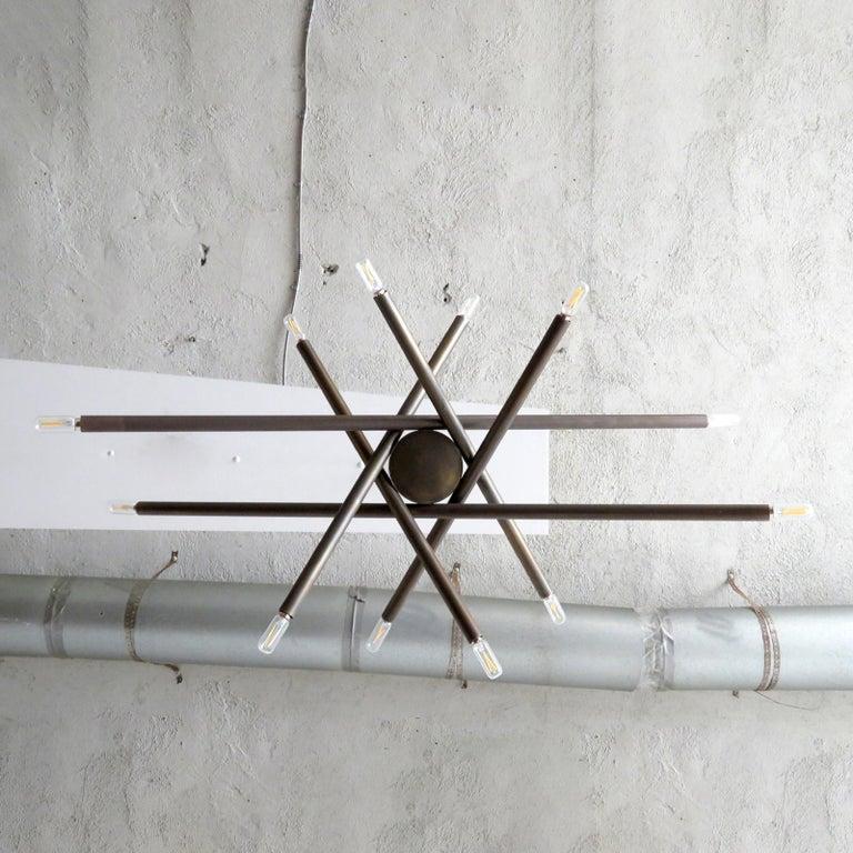 Brass Spiral VL-6 Chandelier by Gallery L7 For Sale