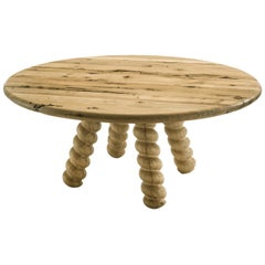 Spirale Dining Table in Solid Raw Oak