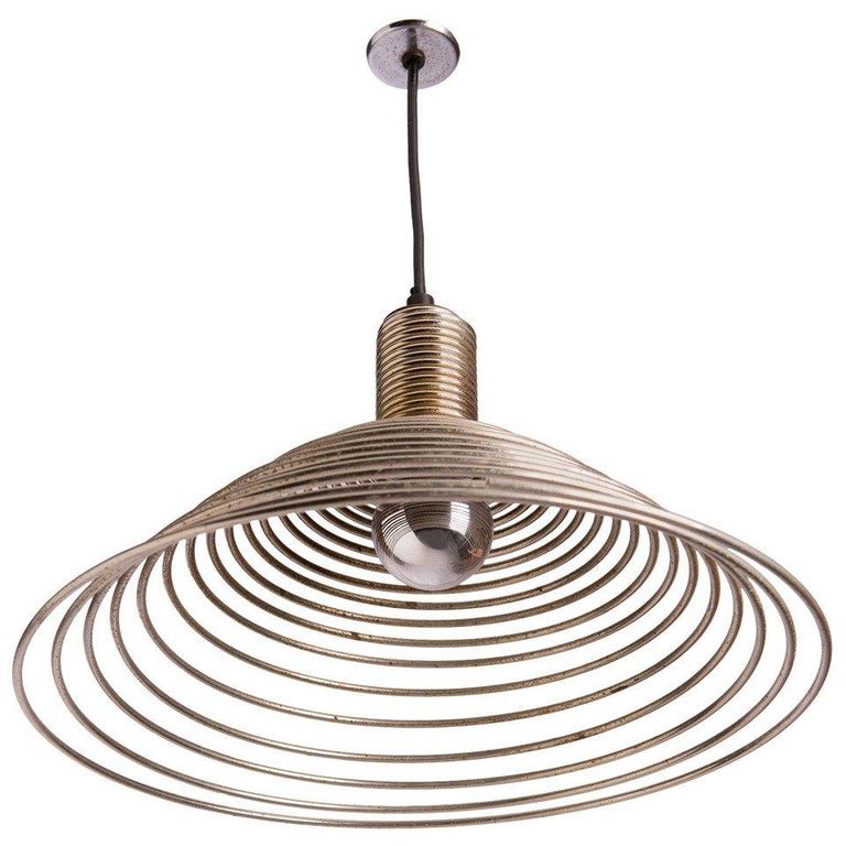 """Spirale"" Pendant Lamp by Angelo Mangiarotti for Candle For Sale"