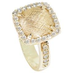 Spirit Lace Pave Diamond 18 Karat Gold Ring