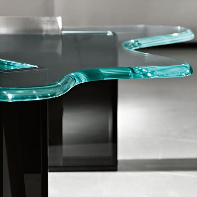 Modern Splash Glass Coffee Table, Designed by Karim Rashid, Made in Italy For Sale