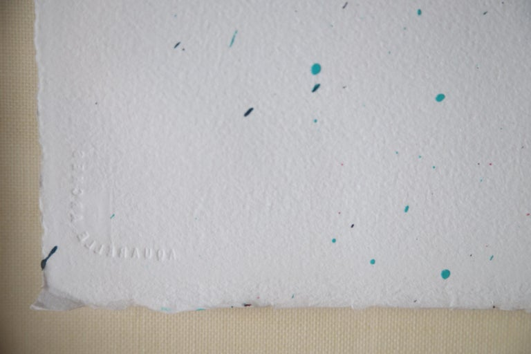 Splatter Abstract Oil and Watercolor on Paper For Sale 1