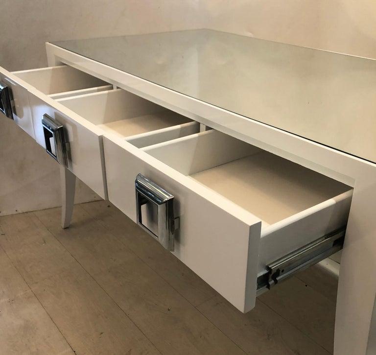20th Century Splay Leg Mid-Century Modern Style Desk For Sale