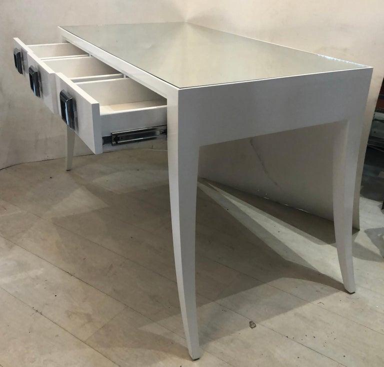 Wood Splay Leg Mid-Century Modern Style Desk For Sale