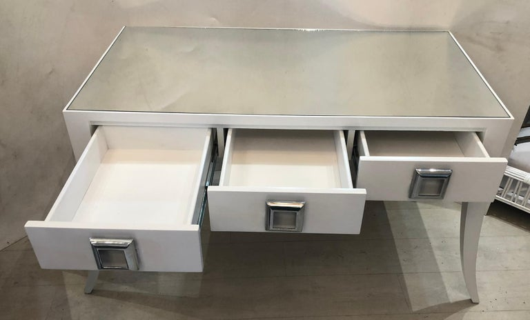 Splay Leg Mid-Century Modern Style Desk For Sale 3