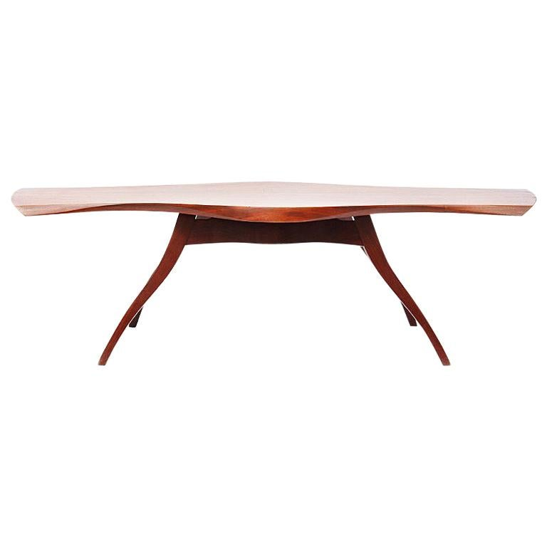Splayed Leg Mahogany Table by Ron Smith