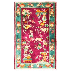 Splended Antique Art Deco Chinese Oriental Rug