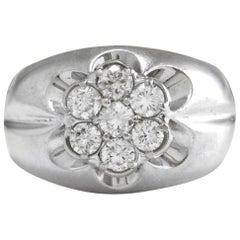 Splendid 1.05 Carat Natural Diamond 14 Karat Solid White Gold Eternity Ring