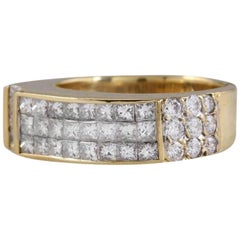 Splendid 1.70 Carat Natural VVS Diamond 18 Karat Solid Yellow Gold Ring