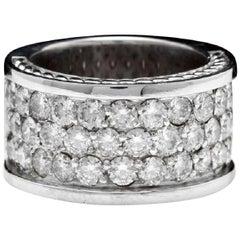 Splendid 4.00 Carat Natural VVS Diamond 14 Karat Solid White Gold Ring