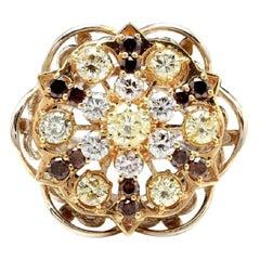 Splendid 5.00 Carat Natural VS Diamond 14 Karat Solid Two-Tone Gold Ring