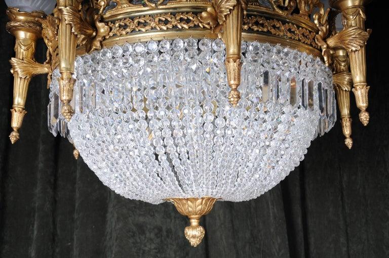 Splendid Classicist Ceiling Candelabra/Chandelier Empire Style For Sale 4