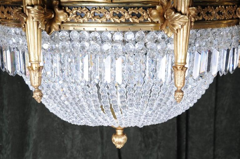 Splendid Classicist Ceiling Candelabra/Chandelier Empire Style For Sale 5