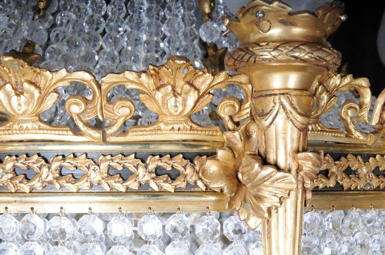 Splendid Classicist Ceiling Candelabra/Chandelier Empire Style For Sale 6