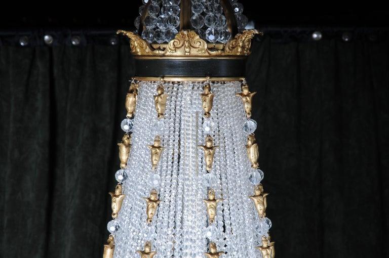 Gilt Splendid Classicist Ceiling Candelabra/Chandelier Empire Style For Sale